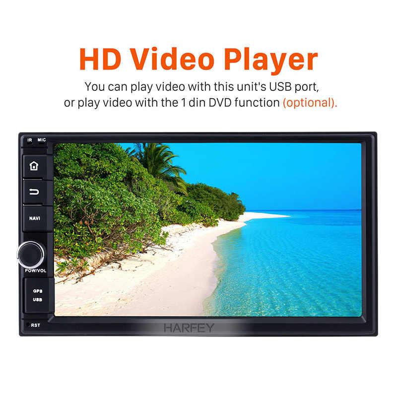 "7 Harfey HD Touchscreen ""Android 9.0 Din Player Multimídia Carro 2 Rádio GPS Navi para NISSAN Universal TOYOTA KIA unidade de cabeça"