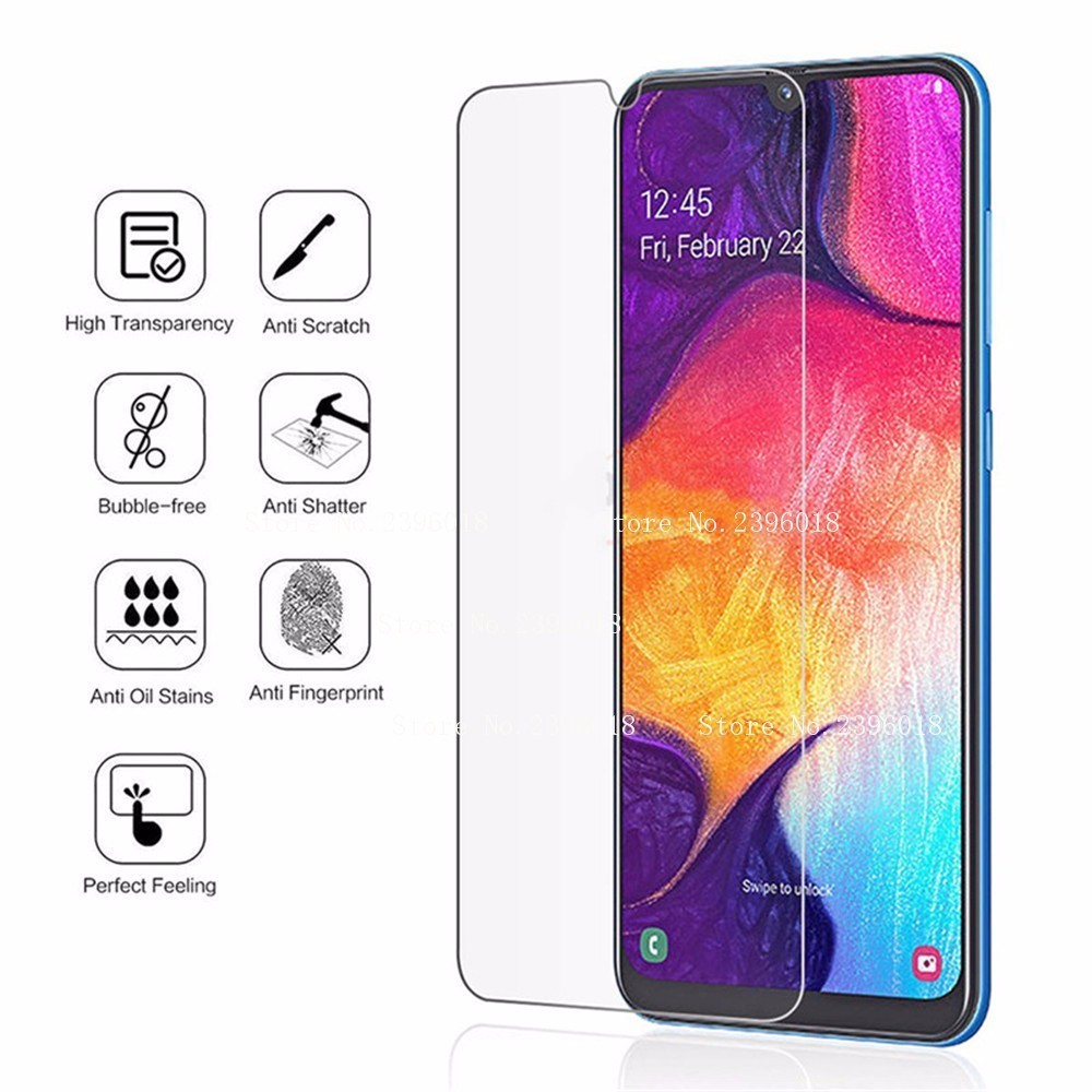 Tempered Glass For Samsung Galaly A10 A20 A30 A40 A50 A70 M10 M20 Screen Protector Glass On J7 Prime J3 J4 J6 2018 Cover film in Phone Screen Protectors from Cellphones Telecommunications