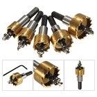 Wholesales 5 Pcs steel Tip Drill Bit Saw Set Metal Wood Drilling Hole Cut Tool For Installing Locks 16/18.5/20/25/30mm