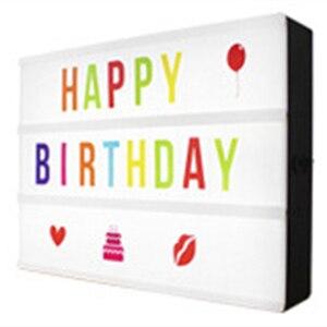 Image 1 - 30*65.5mm A4 קולנועי LED מרפסת אור עד סימן תיבת Lightbox הודעה לוח קולנוע LED מכתב סמל בית מסיבת חתונה מנורת דקור