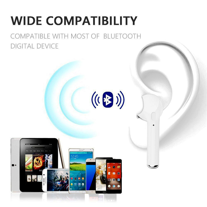 TWS In Ear Wireless I7 I7s Bluetooth Earphones Music Earbuds Stereo Headset For Iphone X 6 7 8 Samsung Xiaomi Retail Box in Bluetooth Earphones Headphones from Consumer Electronics