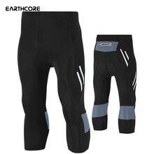 Новинка, Мужские штаны для велоспорта, эластичные обтягивающие штаны для велоспорта, гелевая подкладка, укороченные велосипедные шорты для горного велосипеда,, велосипедные штаны, размер 5 xl