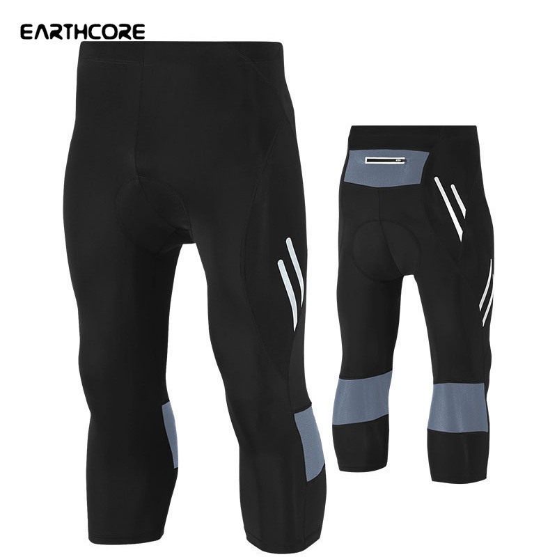 New Men Cycling Pants Elastic Cycling Tight Pants Clothing Gel Pad Calf-Length Bicycle Shorts MTB Bike Hot Bicycle Pants 5XLSize