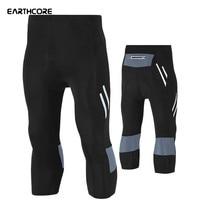 New Men Cycling Pants Elastic Cycling Tight Pants Clothing Gel Pad Calf Length Bicycle Shorts MTB Bike Hot Bicycle Pants 5XLSize