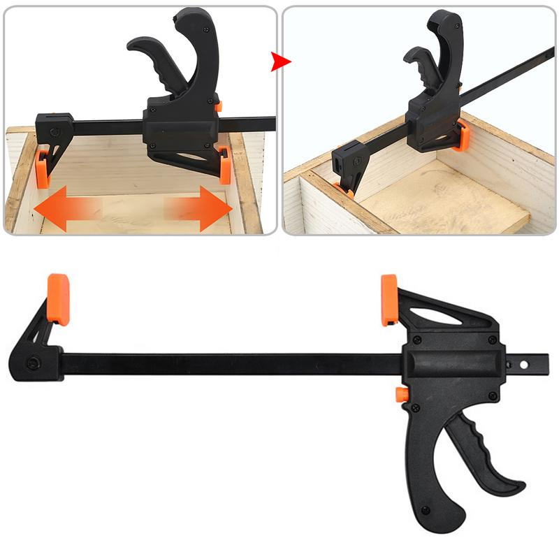 Adjustable Woodwork Kit 4 Inch Speedy Woodworking Bar F-Clamp Woodworking Tool