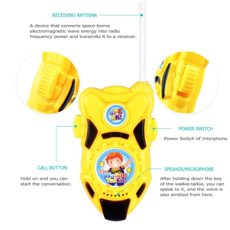 2pcs/set Children Portable Walkie Talkies 2-Way Radio Kids Child Mini Handheld Toys Walkie Talkie Birthday Gift