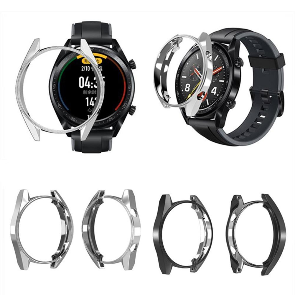 Watch Case For Huawei GT Dynamic Sports Watch Electroplated TPU Anti-fall Cover Soft Frame Smartwatch Sports Accessories