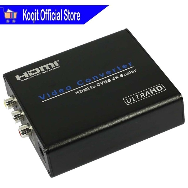 Video Converter HDMI To CVBS AV 4K Scaler Audio Extractor FL/FR Digital Analog Composite 1080p 4K*2K CRT PC TV Monitor Projector