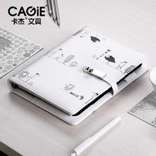CAGIE لطيف مفكرة المسافرين الملء A5 الموثق مذكرات شخصية دوامة Filofax A6 مخطط فواصل الجلود منظم جدول الأعمال