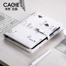 CAGIE Cute Travelers пополнение ноутбука A5 Binder персональный дневник спиральный Filofax A6 планировщик разделители кожаный Органайзер программа