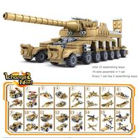 16 in 1 Kids Military Weapons Shape Building Bricks Blocks Educational Toy Home SchoolMore Than3C