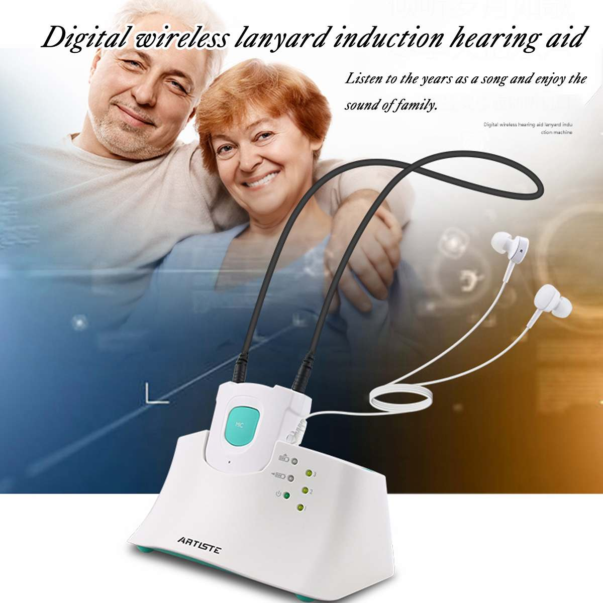 2.4GHz TV Hearing Aid Earphone Universal Wireless Hearing Aid Headset System TV/Media Rechargeable Assistive Listening Headset2.4GHz TV Hearing Aid Earphone Universal Wireless Hearing Aid Headset System TV/Media Rechargeable Assistive Listening Headset