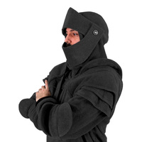 Men's Hoodie Retro Elbows Drawstring Knight Sweatshirt with Mask Windproof Winter Fall Men Riding Hoodie Solid Color Hooded Coat