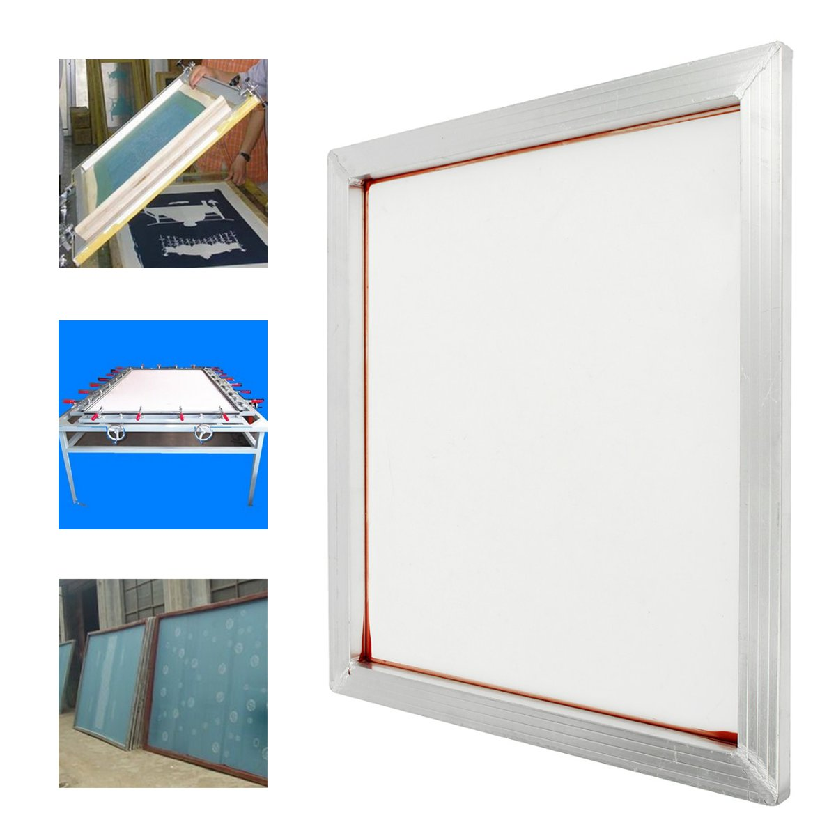 Screen Printing Aluminium Frame Stretched With 230 Yellow Mesh Count White Silk Print Polyester Mesh for Printed Circuit Boards