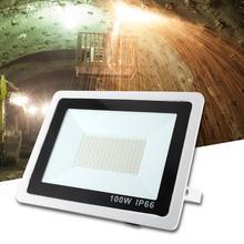 AC 220V 100W Waterproof LED Spotlight Cold White Wall Light For Garden Courtyard Outdoor led spotlight