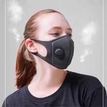 Анти-смога Губка Маска для лица PM2.5 рот-муфельная печь Анти-пыль Анти-туман респиратор для езды на велосипеде, MTB 3,0 дыхательный клапан 12,5 см