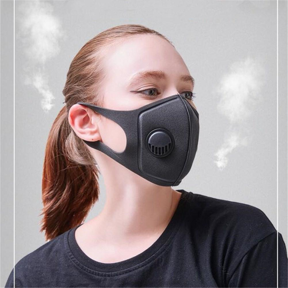 New Anti-smog Sponge Face Mask PM2.5 Mouth-muffle Anti-dust Anti-fog Respirator For Cycling MTB 3.0 Respiratory Valve 12.5 Cm