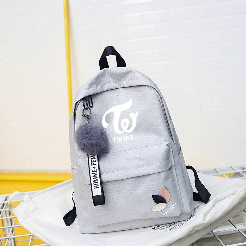 Wanna One Bts Twice Exo Got7 Backpacks Monsta X Backpack Sac A Dos Kpop K-pop K Pop School Bag Backpack For Teenager Girl Women #2