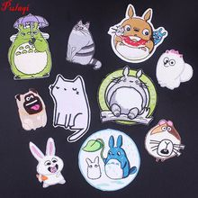 Pulaqi Tonari No Totoro Patches Arm Badge Decor For Bag Clothing Jeans Sew On Iron-on Sticker Hat Cat Animal Patch DIY H(China)
