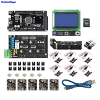 3D printer & CNC KIT2. MEGA 2560 + RAMPS 1.4 + Graphic 128x64 controller + drivers + End stop, Compatible for Arduino and RepRap