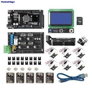 Impressora 3d & cnc kit2. Mega 2560 + rampas 1.4 + gráfico 128x64 controlador + drivers + fim de parada, compatível para arduino e reprap