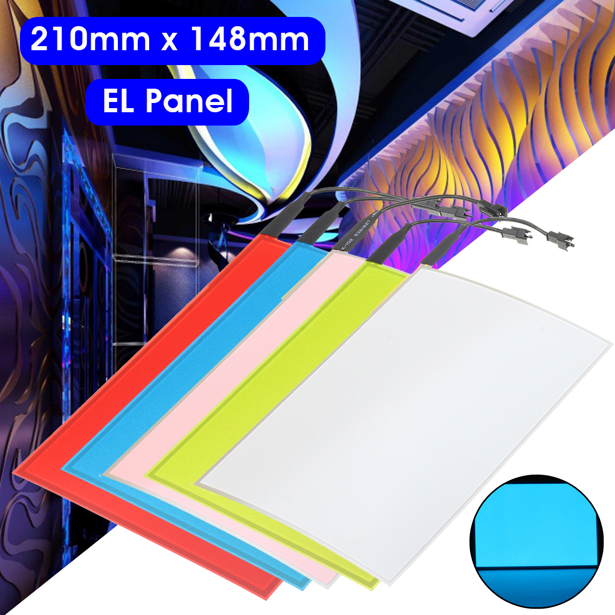 12v A5 El Neon Electroluminescent Panel Sheet Cuttable Lights Neon Film Photo Sheet Paper