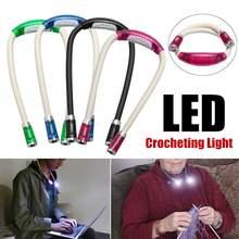 Светодиодный шеи ночной Светильник гибкий Вязание вяжущие крючком книга светильник громкой связи Bluetooth гарнитура для авто лампа для чтения Освещение в помещении 4 цвета Батарея работает