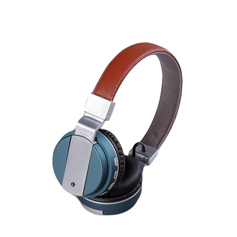 Portable Headphones Metallic Paint Earphones Wireless Bluetooth Headset Stereo Hd Sounds Surround Sports Outing Devices With Mic-in Bluetooth Earphones & Headphones from Consumer Electronics