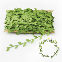 40 M a Card Simulation Leaves Green Vine Wreath Decoration Accessories Fabric Rattan Artificial Flowers