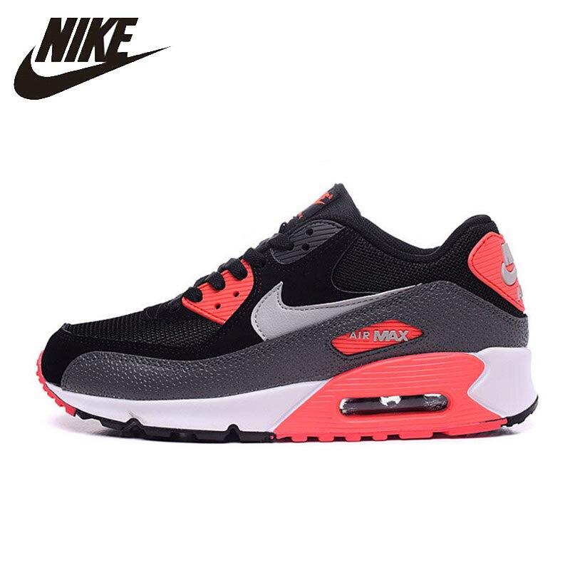 Nike Original nouveauté authentique hommes Air Max 90 essentiel chaussures de course Sport en plein Air baskets bonne qualité 537384
