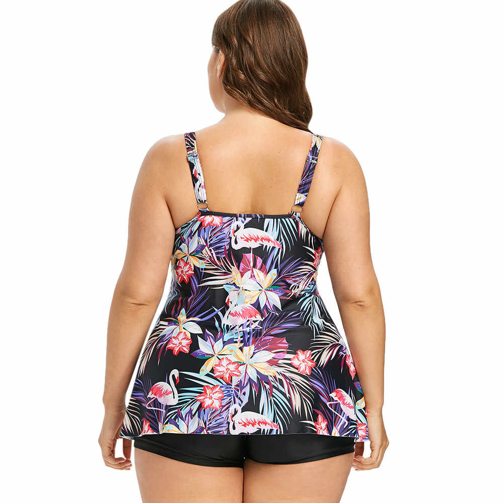 Wipalo размера плюс Фламинго ассиметричная одежда для плавания сексуальный сетчатый цветочный купальный комплект для мальчиков, женский пляжный комплект, Мягкий купальный костюм