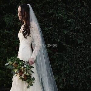 Image 3 - Perlen Hochzeit Schleier Kirche Braut Schleier für Braut mit Kamm Hochzeit Zubehör