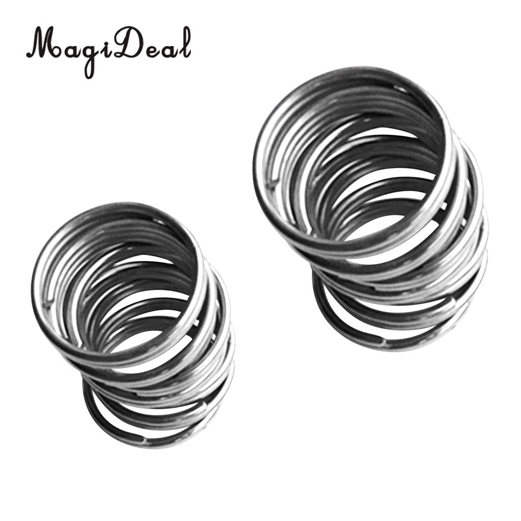 10 Pieces 30mm/22mm Scuba Diving Stainless Steel Split Ring For Gear Attachment 22mm For Water Sports Swimming Diving Accessory