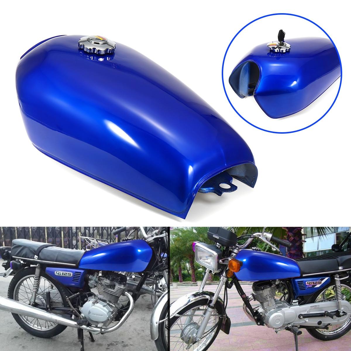 9 2.4 litro de Combustível Da Motocicleta Tanque de Gás com Tampa de Ferro de Espessura De Aço gal Interruptor Kit Para Honda CG125 Cafe Racer acessórios da motocicleta