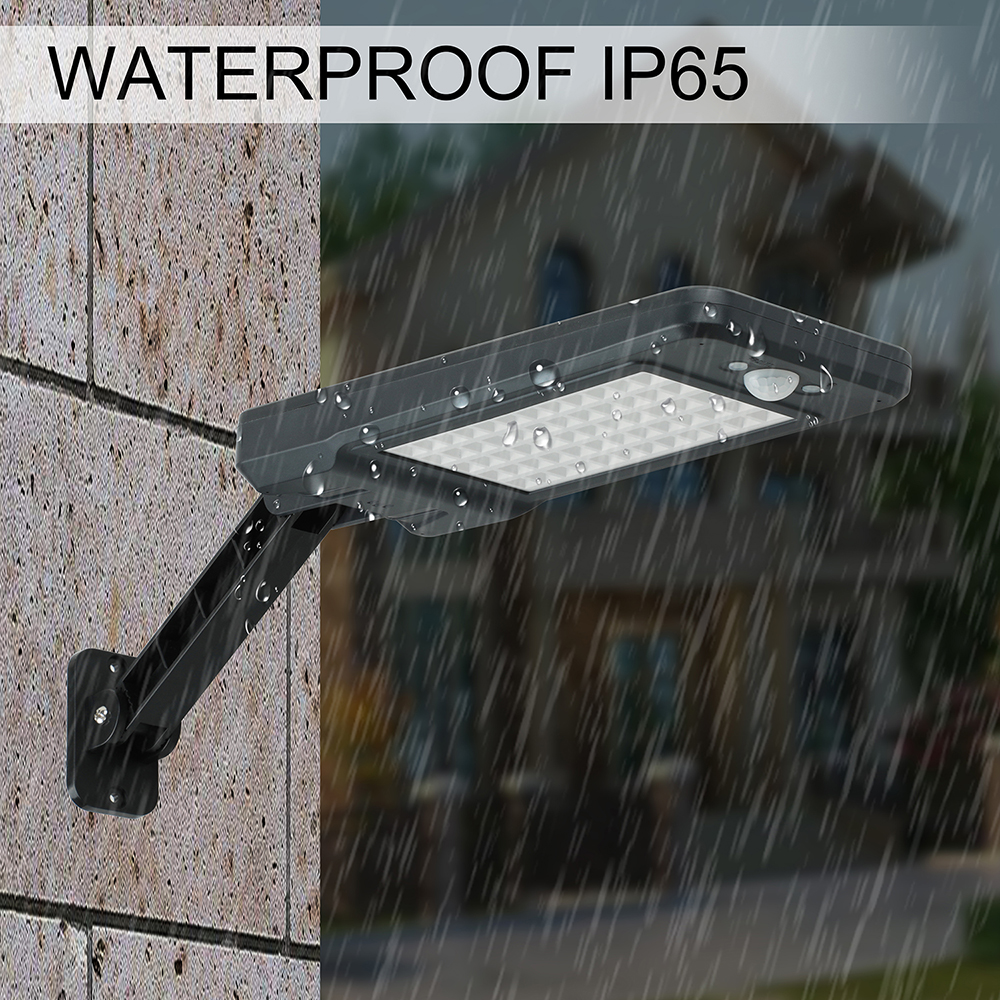 Led solar licht ip65 wasserdicht straße licht 60LEDs garten licht zaun PIR motion sensor erkennung outdoor wand lampe