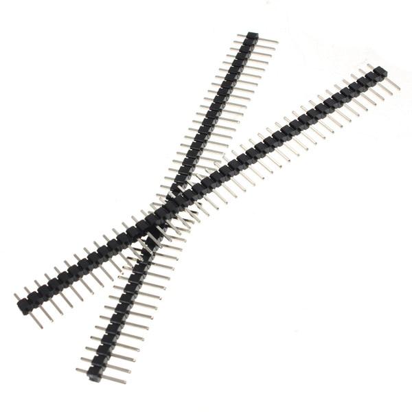 2017 10PCS 2.54mm Connectors 40 Pin Male Single Row Pin