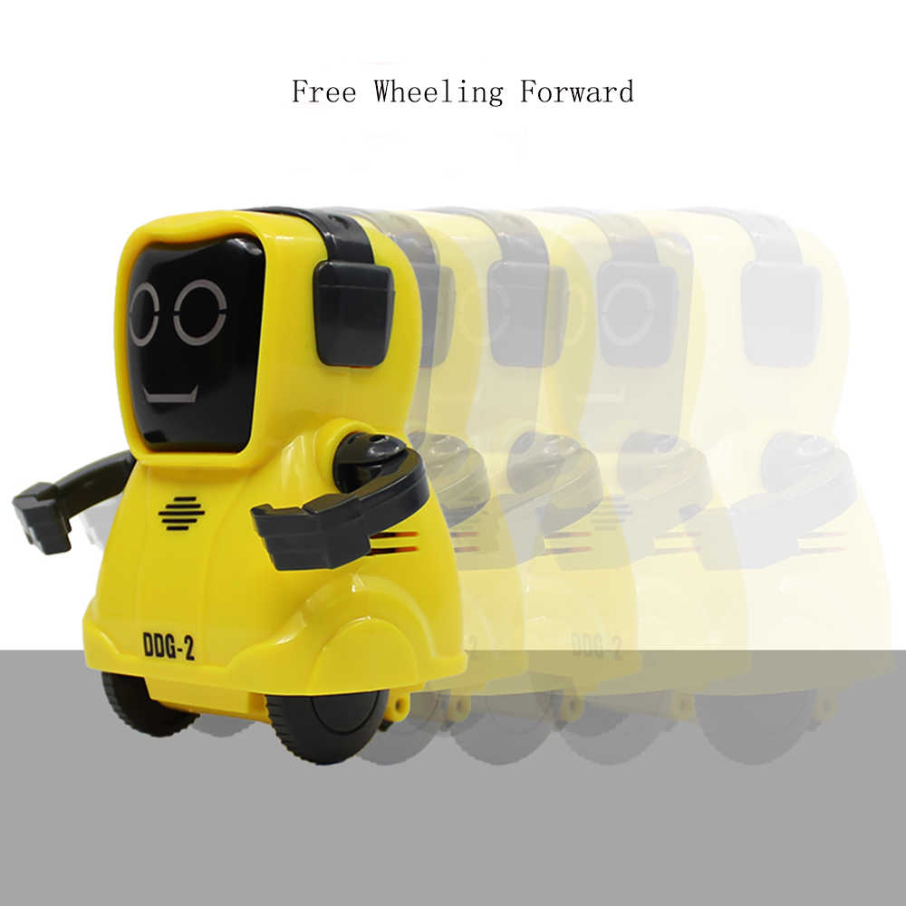 LEORY MINI Recording Function Smart RC Robot Freely Wheeling 360 Rotating Arm Pocket Robot Toy For Children Gift