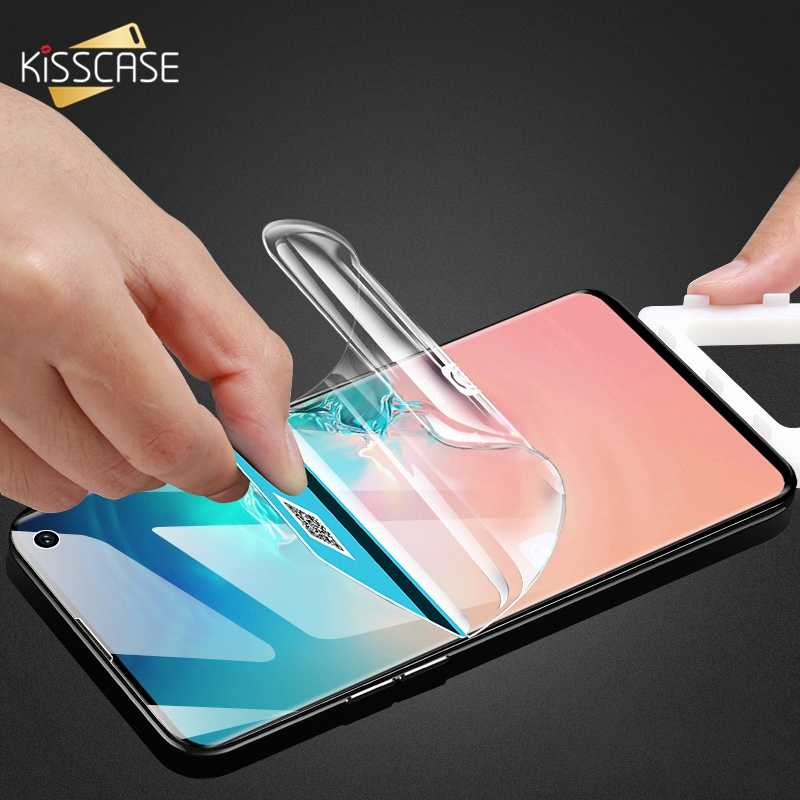 KISSCASE Volledige Cover Screen Protector Voor Samsung Galaxy S7 Rand Note 9 8 S9 S10E Zachte Film Protector Voor Samsung s10 PLUS S8 S9