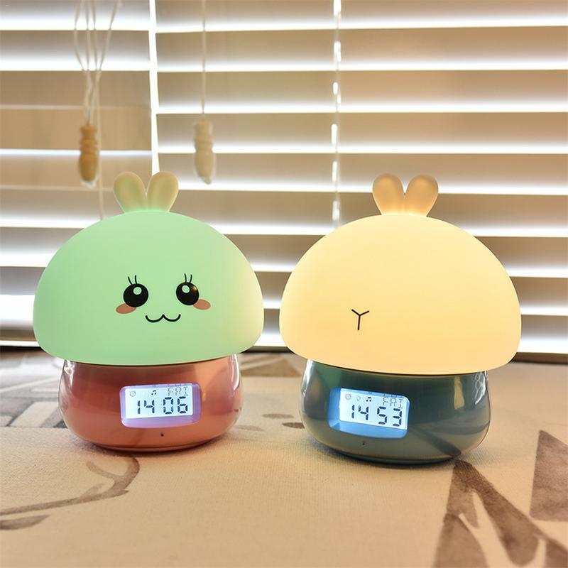 Touch Night Light Multi-color LED Night Light Silicone Touch Sensor LED Children Night Light With Recording Multi-function Smart