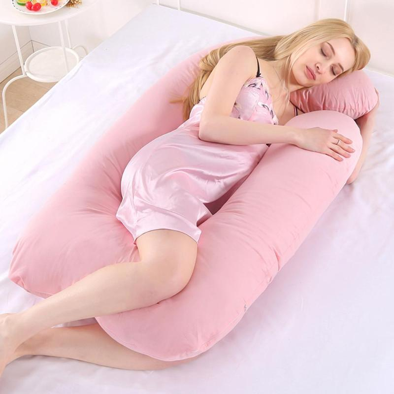 Pregnancy Pillow for Pregnant Women Body Sleeping Support Pillow Cotton Pillowcase U Shape Maternity Pillows Подушка