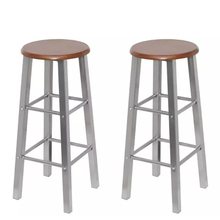 Stools Bar Chair Metal Kitchen Vidaxl with Mdf-Seat Home Classic Solid-Bar for Restaurant