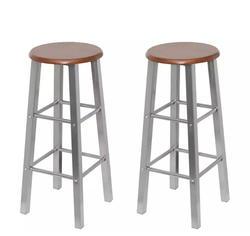 VidaXL барные стулья 2 шт. металл с МДФ сиденье домашний классический барный стул сплошной цельный стулья кафе стул для дома кухня ресторан
