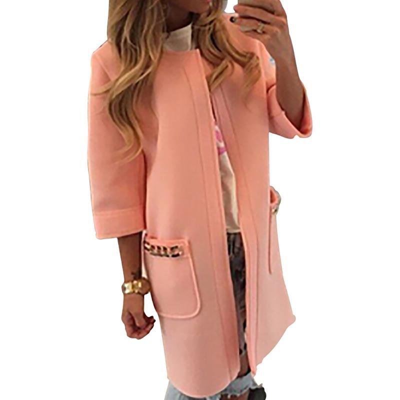 2019 Neue Mäntel Jacken Europäischen Amerikanischen Strickjacke Drei Viertel Länge Ärmel Mantel Lange Jacke Für Frauen Damen Weibliche Mode Auf Dem Internationalen Markt Hohes Ansehen GenießEn
