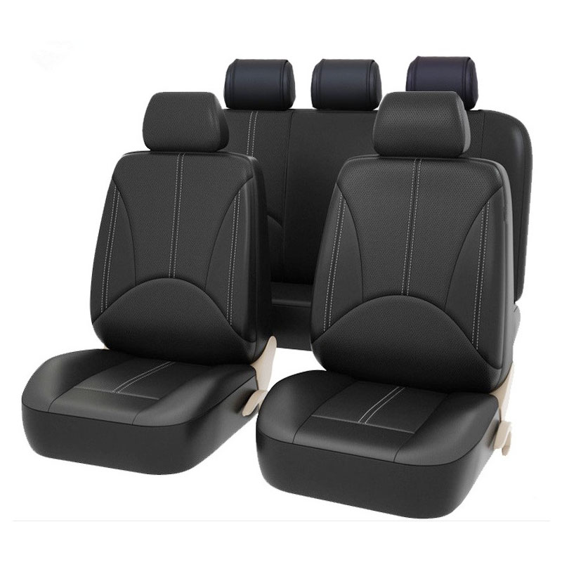 Carnong car seat cover leather universal for Mitsubishi gallant lancer fortis outlander asx 5seater waterproof auto seat covers