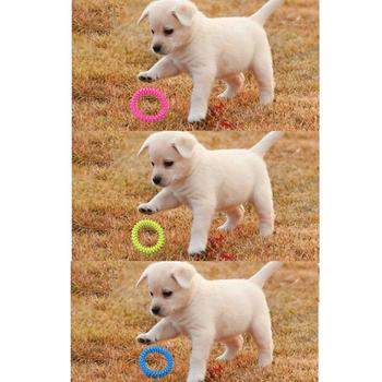 Dog Biting Ring Toy Dog Soft Rubber Molar Toy Pet Bite Cleaning Tooth Toy Increase The Intelligence Of Pets Tool 1