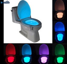 8 Colors Motion Sensor Toilet Seat Led Night Light Waterproof Backlight  For Toilet Bowl Bathroom Activated On/Off Lamp