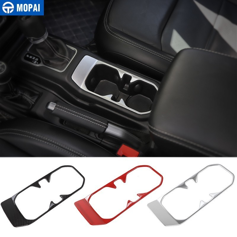 Car hinten cup Halter Trim Dekoration Silber ABS for Jeep Wrangler 2011 to 2016