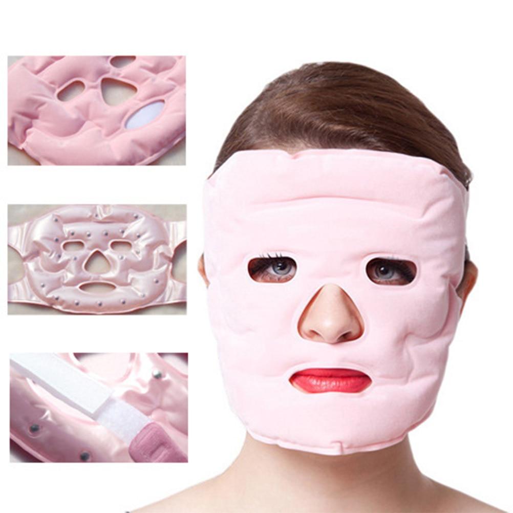 Facial Mask Face Skin Care Tourmaline Magnet Facial Mask Slimming Beauty Massage Face Mask Thin Anti-Wrinkle Mask 1Pcs Magnetite