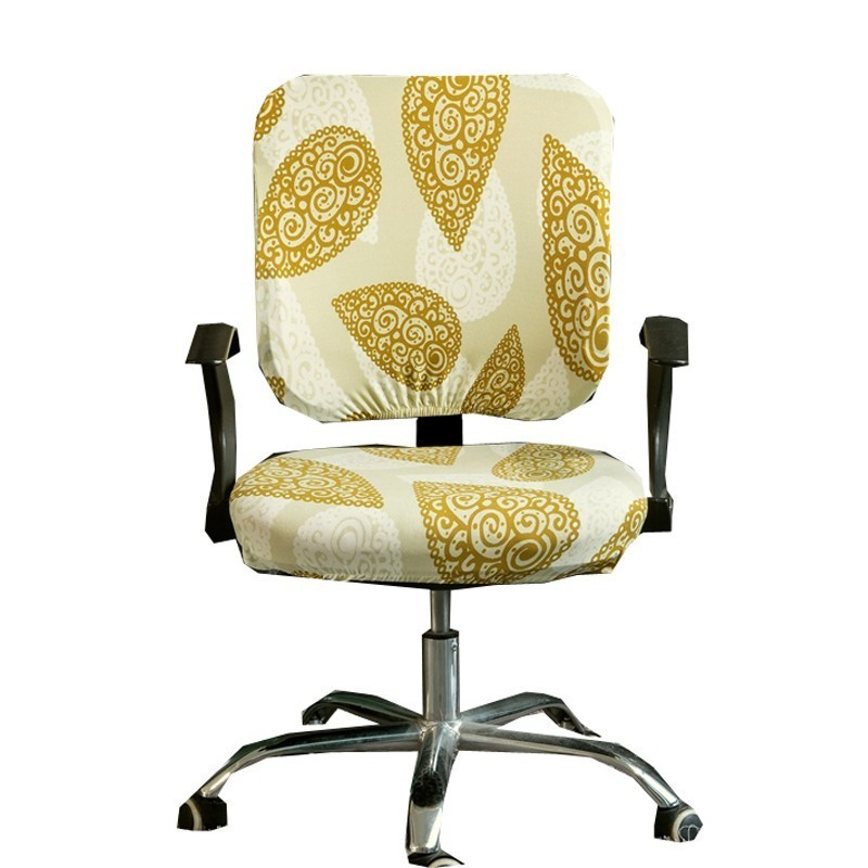 Solid Color Spandex Computer Chair Cover Office Seat Covers Slipcover Removable