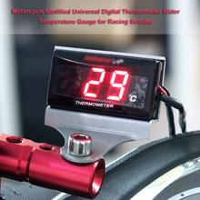 Universal Motorcycle Modified Digital Thermometer Water Temp Temperature Gauge Meter For Racing Scooter Red LED Water Temp Meter цена